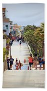 Manhattan Beach Boardwalk Beach Towel