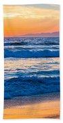 Manhattan Beach Sunset Beach Towel