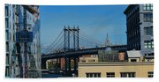 Manhattan Bridge From Brooklyn Beach Towel