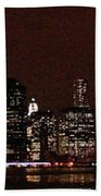 Manhattan On Super Weekend Beach Towel