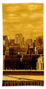 Manhattan Skyline Beach Towel