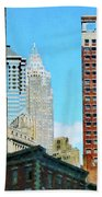 Manhattan Skyscrapers Beach Towel