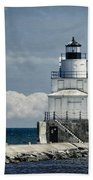 Manitowoc Breakwater Lighthouse Beach Towel