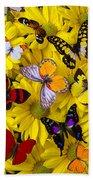Many Butterflies On Mums Beach Towel