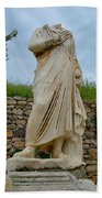 Many Sculptures Lost Their Heads In Ephesus-turkey Beach Towel