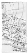 Map: London, 13th Century Beach Towel