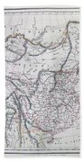 Map Of China And Japan Beach Towel