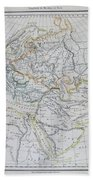 Map Of Europe In The Middle Ages Beach Towel