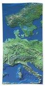 Map Of Europe Beach Towel