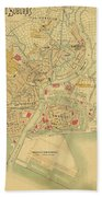 Map Of Manila 1899 Beach Towel