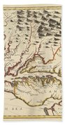 Map Of Maryland 1676 Beach Towel