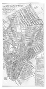 Map Of New York City, 1803 Beach Towel