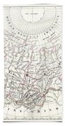 Map Of Russia In Asia And Siberia Beach Towel