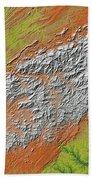 Map Of Southern Appalachia Beach Towel