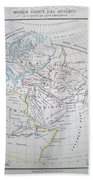 Map Of The World According To The Ancients Beach Towel