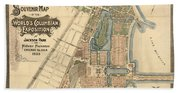 Map: Worlds Fair, 1893 Beach Towel