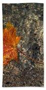 Maple Leaf - Playful Sunlight Patterns Beach Towel