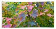 Maple Magnetism Painting Beach Towel