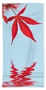 Maple Reflection Beach Towel