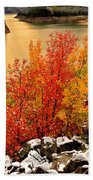 Maples Along The Palisades Beach Towel