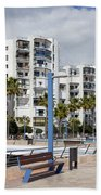 Marbella Apartment Buildings Beach Sheet
