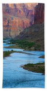 Marble Canyon Rafters Beach Towel by Inge Johnsson