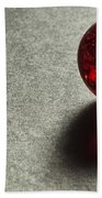 Marble Red Crackle 1 Beach Towel