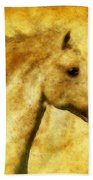 Marbled War Horse Beach Towel