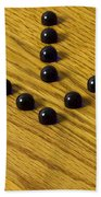 Marbles Arrow Blue 1 Beach Towel