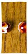 Marbles Red Orange Swirl 1 Beach Towel