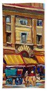 Marche Bonsecours Old Montreal Beach Towel