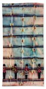 Marching Band Encaustic Beach Towel