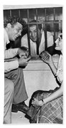 Marciano In A Movie Jail Set Beach Towel by Underwood Archives