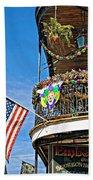 Mardi Gras Balcony Beach Towel