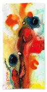 Mardi Gras - Colorful Abstract Art By Sharon Cummings Beach Towel