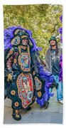 Mardi Gras Indian Beach Towel