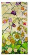 Mardi Gras Beach Towel by Jennifer Lommers