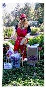 Mardi Gras Scarecrow At Bellingrath Gardens Beach Towel