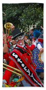 Mardi Gras Storyville Marching Group Beach Towel