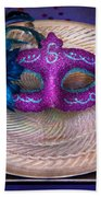 Mardi Gras Theme - Surprise Guest Beach Towel by Mike Savad
