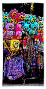 Mardi Gras Vendor's Cart Beach Towel
