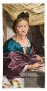 Maria Merian  Beach Towel by Science Source
