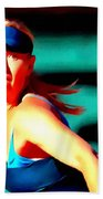 Maria Sharapova Tennis Beach Towel