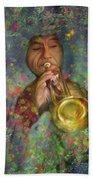 Mariachi Trumpet Player Beach Towel