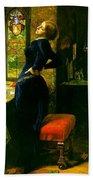 Mariana In The Moated Grange 1851 Beach Towel