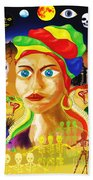 Marie Laveau Beach Towel