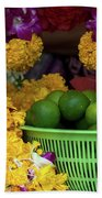 Marigolds And Limes Beach Towel