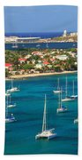 Marigot Harbor St. Martin Beach Towel