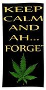 Marijuana 4 Beach Towel