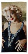 Marilyn 126 Mona Lisa Beach Towel